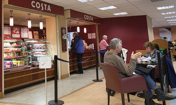 Costa Coffee branch in hospital