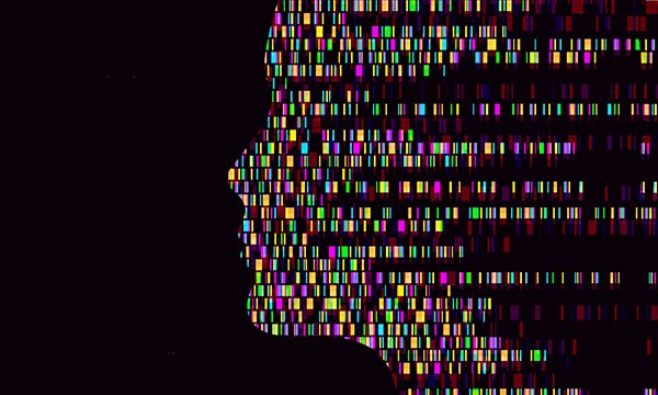 Genes illustration forming face. Picture: iStock