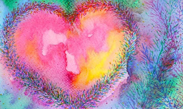 Picture shows image in the shape of a heart in pastel colours. A community nurse says a stigma remains over becoming emotional because a patient you cared for has died, but argues that grieving shows she has done her job well.