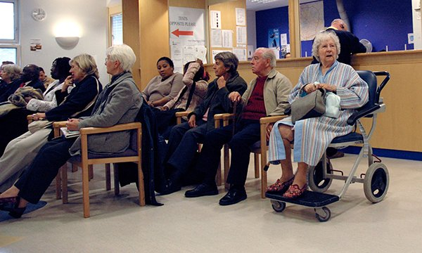 Busy waiting area in hospital – NHS Providers calls for capital funding for trusts in England
