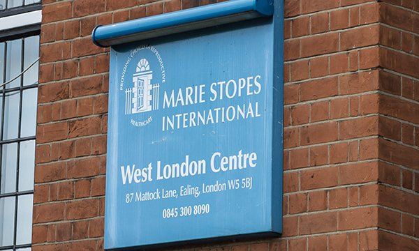 Marie Stopes West London Centre sign