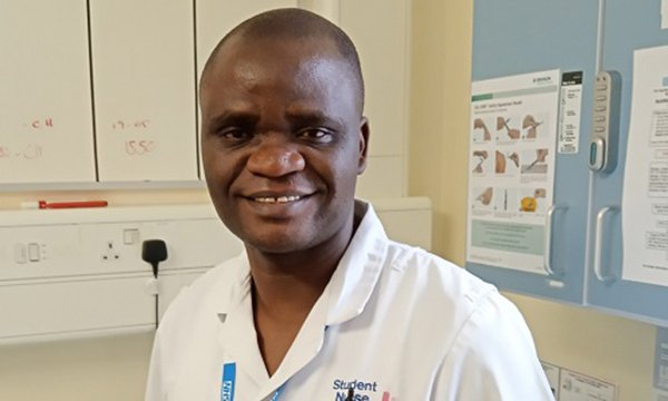 Justin Mwange, a newly qualified nurse in Hull