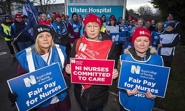 Northern Ireland nurses strike
