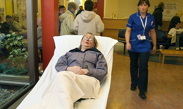 Nurses report that corridor care, or boarding, has increasingly become the norm in NHS hospitals
