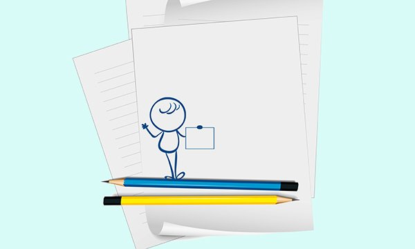 Illustration of a stick man on some pens and paper. Dyspraxia is a developmental coordination disorder which affects the way you memorise, process and organise information. Picture: iStock