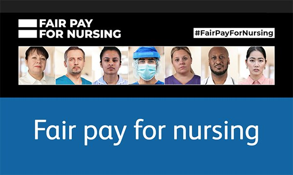 Fair Pay for Nursing RCN campaign publicity image