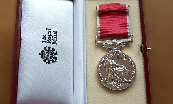 British Empire Medal, one of the honours given to nurses in the Queen's Birthday Honours 2020