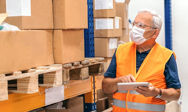 PPE in warehouse