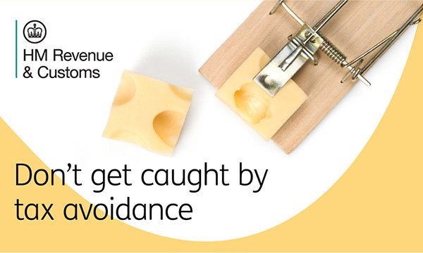 Mousetrap illustration used in HMRC campaign called Don't Get Caught by Tax Avoidance