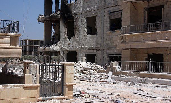 Destroyed hospital in Aleppo