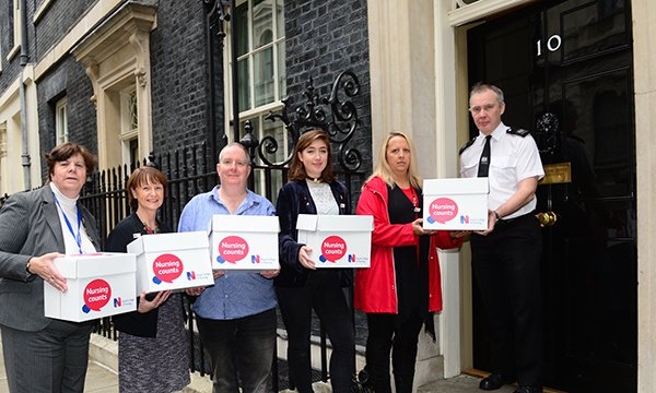 Scrap the Cap postcards delivered to Downing Street