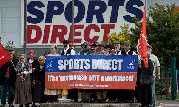 Sports Direct workers