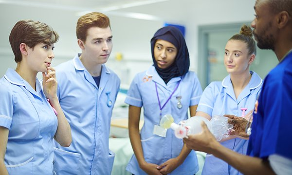 student group on clinical placement