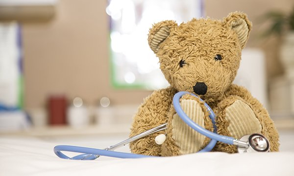 teddy with a stethoscope
