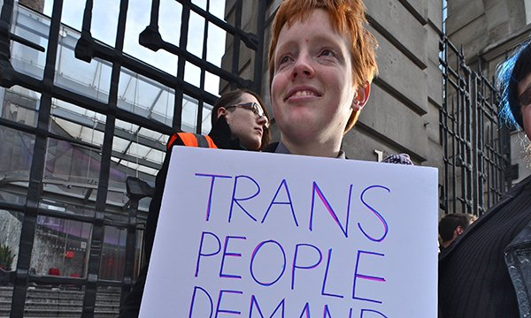Transexual protest