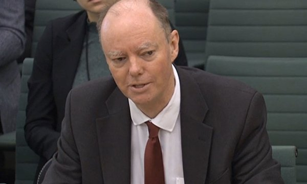 Picture of England's chief medical officer Chris Witty. Retired nurses in older age groups or who have health conditions can still help at a time when the NHS is under considerable strain, he told MPs.