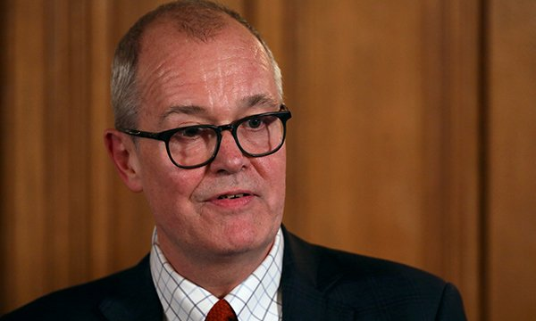 Picture shows the government's chief scientific adviser Sir Patrick Vallance at a news conference after a COBRA meeting to discuss the government's response to the coronavirus.