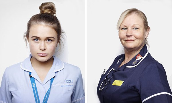 Nurses Emma Kelly and Anne Roberts