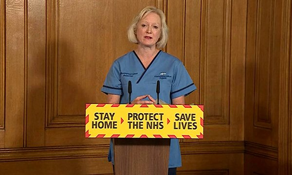 Ruth May, England's chief nursing officer, speaking at a Downing Street press briefing during the COVID-19 crisis