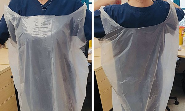 Pictures of 'bin bags' in GP's tweet
