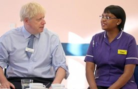 Photo of Taurai Matare meeting Boris Johnson