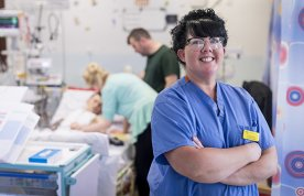 Healthcare assistant Lisa Morgan in a ward at Freeman Hospital, Newcastle upon Tyne. She has improved the care of children facing cardiac surgery through a training package for care and support staff and other initiatives.