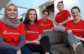 StreetDoctors North East London nurse team Munira Patel, Aoife Scanlan, Rachel Moisan, Izzy Howes and Charlotte Green