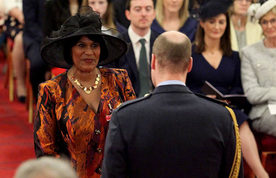 Yvonne Coghill receiving CBE