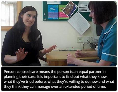 understand person centred approaches for care and support