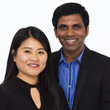 Mary Bura and Nisanthan Mahalingham