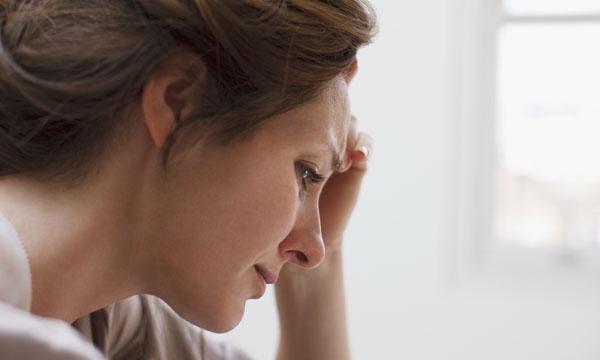 Woman feeling anxious