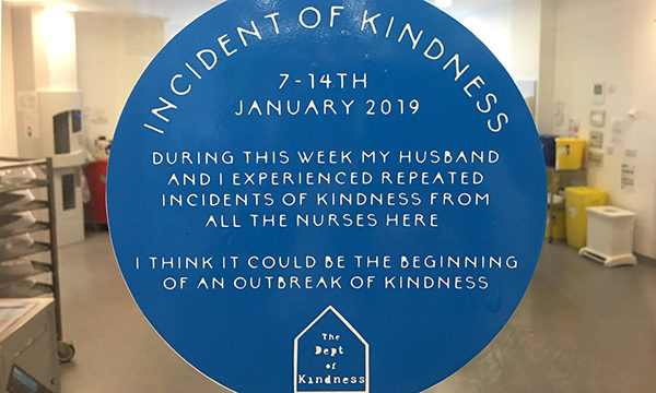 Department of Kindness blue plaques