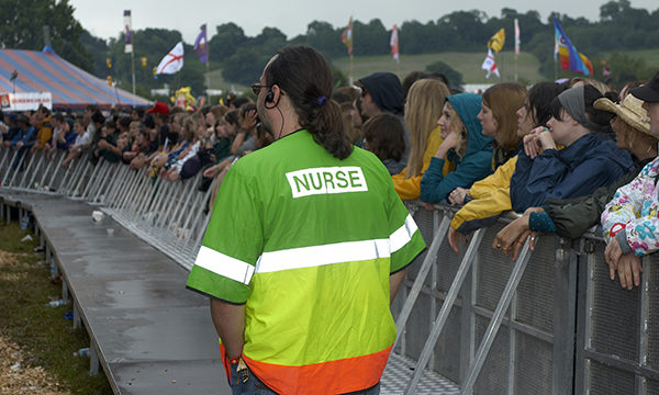 Nurse volunteer at Glastonbury