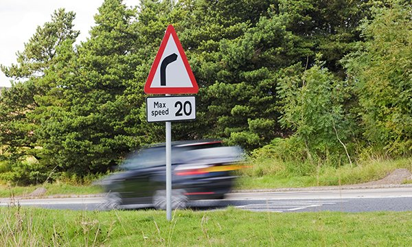 speeding care in a 20mph zone