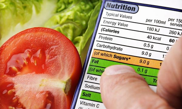 Looking at nutrition information