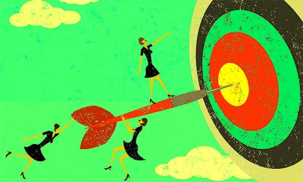 Image of three small female figures as if playing on a dart that has landed in the centre of a target. It is timely for all nurses to actively seek opportunities to showcase the quality work being done by nurse researchers in all areas of practice.