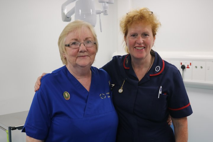 Emergency nurse practitioner Rhiannon Pritchard and emergency department matron Lyn Roberts