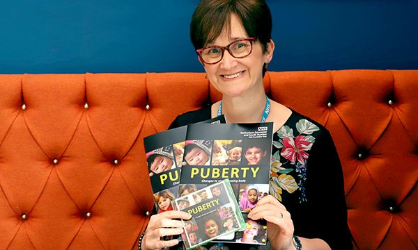 Picture of specialist community public health nurse Anne Mulligan, who came up with the idea of creating a video and workbook to help children understand the changes they go through during puberty.