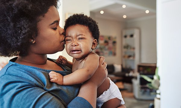 Mother with crying baby. Picture: iStock