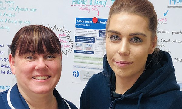 Nurses Emma Cuthbert and Chelsea Jackson from the oncology ward at Northampton General Hospital