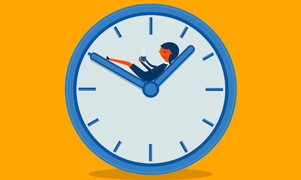 Illustration showing a clockface with a person resting on one of the hands. Gloucestershire Hospitals NHS Foundation supports nurses napping on breaks during long shifts as a safeguarding principle.