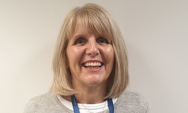 Picture of Maggie Clarke, a school nurse who helped modernise a health and well-being service and has won an award from Cavell Nurses' Trust.