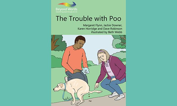Ilustration of the book cover of the Trouble with Poo for people with learning disabilities and autism
