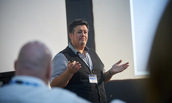 Picture shows NHS England and NHS Improvement head of learning disability nursing David Harling speaking at an RCNi Learning Disability Nursing Conference in October.