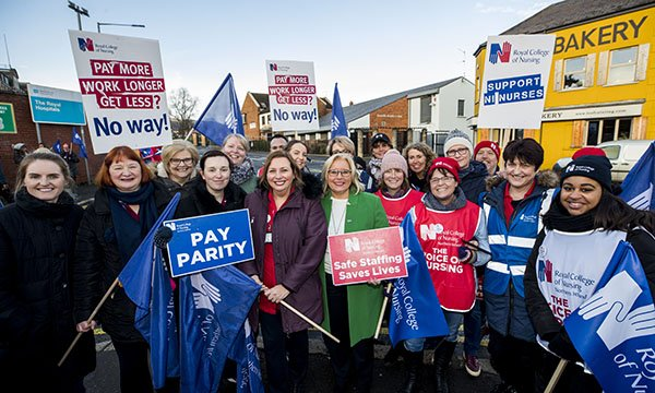 Nurses taking industrial action in Northern Ireland