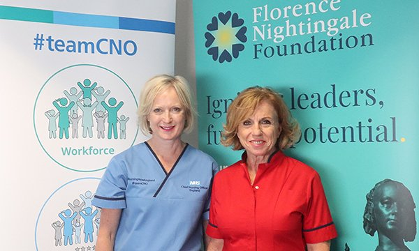 Chief nurse Ruth May and Florence Nighingale Foundation chief executive Greta Westwood