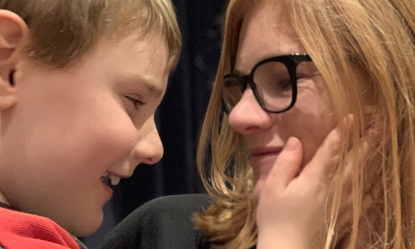 Picture of Niamh Donohoe with her son Jay. A setback on a day out with her son led her to inspire a local business to make changes that will help other children with disabilities.