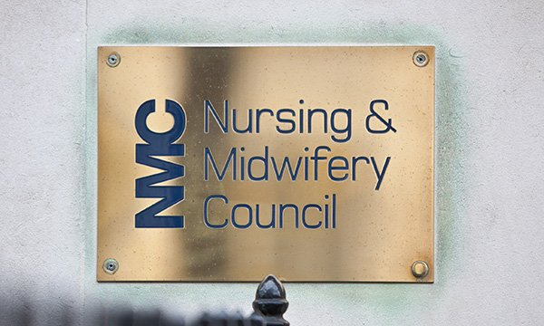 NMC name plaque at its London headquarters