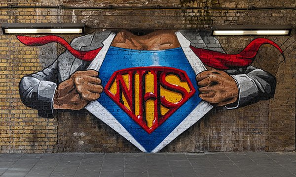 Waterloo street art - NHS heroes