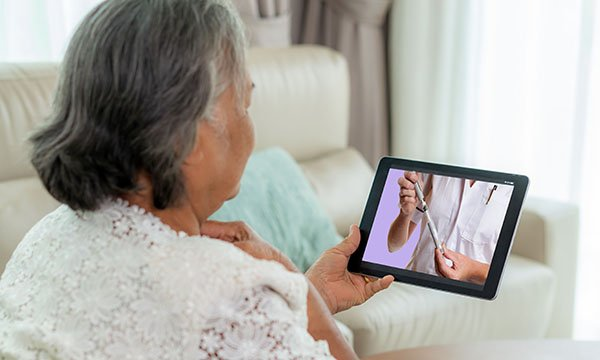 Diabetes consultation over video call